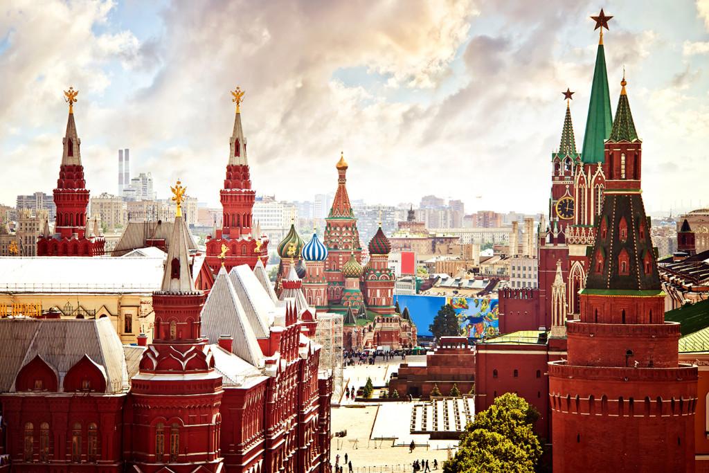 Aerial Kremlin view in Moscow