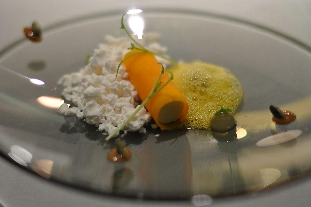 Amora-ártica, abóbora e chocolate branco