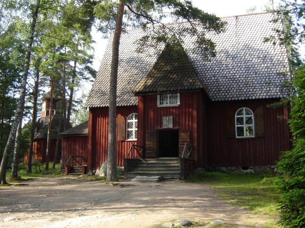 Um dos edifícios que fazem parte do Seurasaari