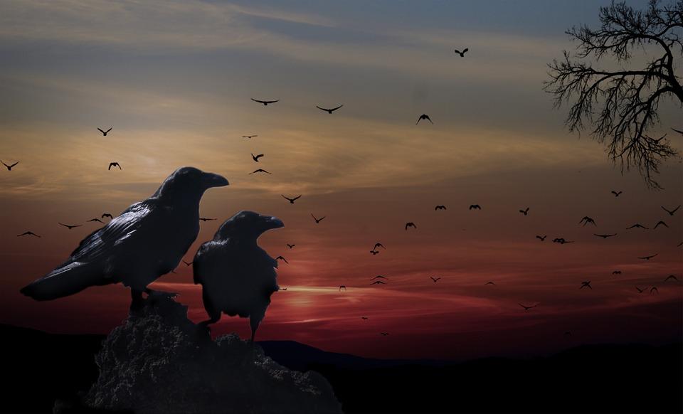 Haviam lendas em que as luzes eram corvos e lendas em que eram tochas seguradas por guias para os que partiam para o próximo mundo