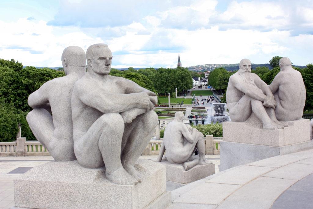 Esculturas de Vigeland localizadas no parque