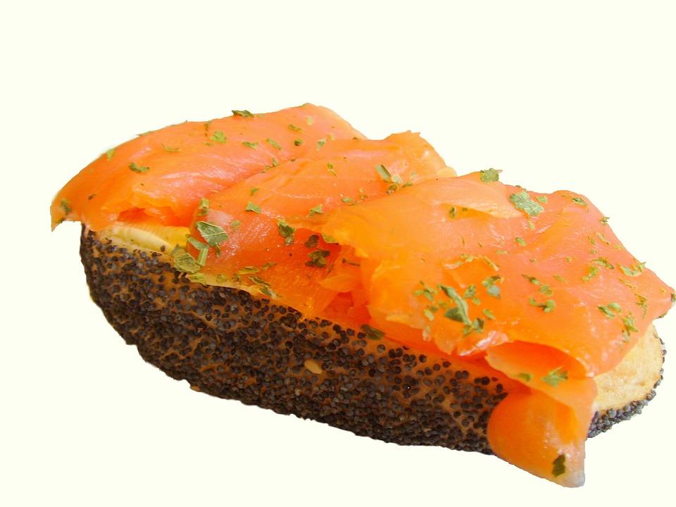 Røkt Laks, salmão defumado.