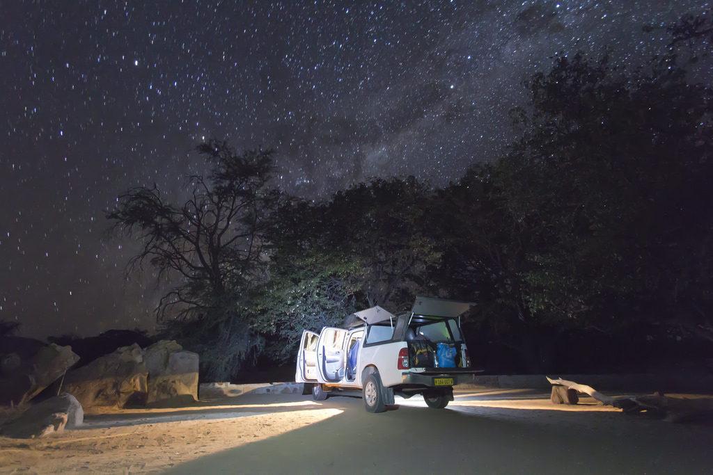 Céu estrelado da Namíbia